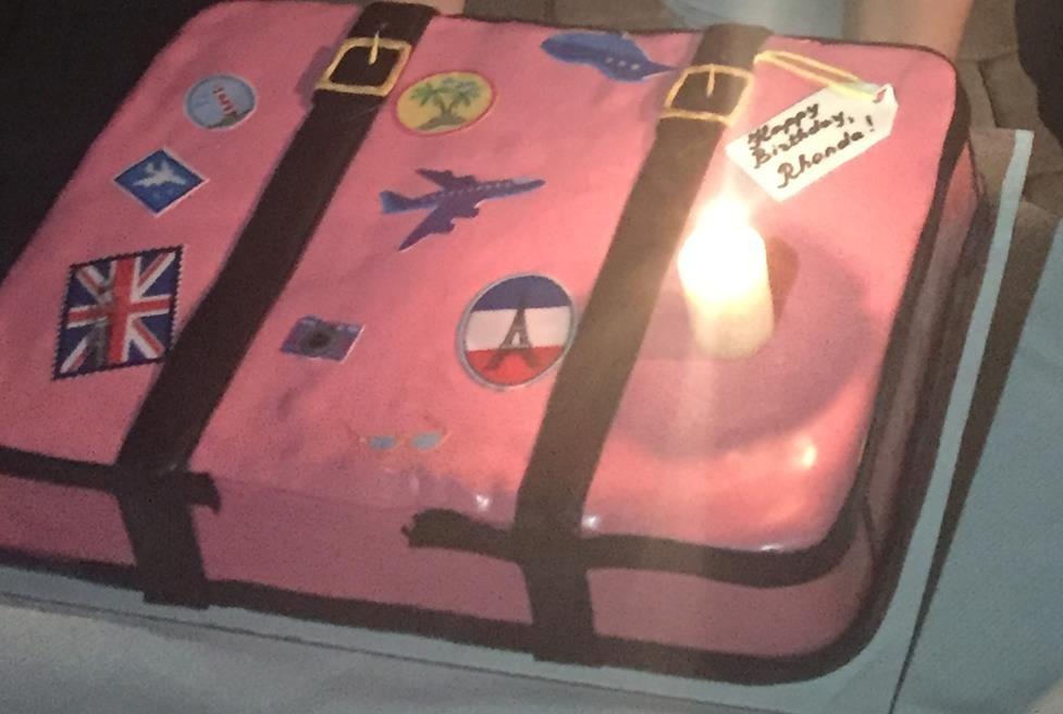 MY PINK SUITCASE BIRTHDAY CAKE!